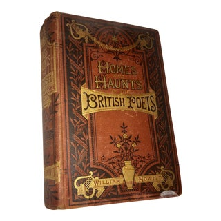 1873 Antique Home & Haunts of British Poets Book by William Howitt For Sale
