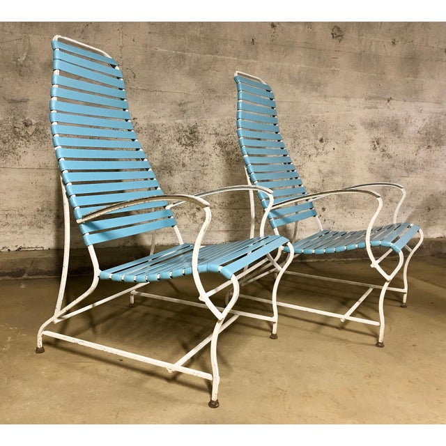 Pair of Mid Century Modern High Back Patio Lounge Chairs For Sale - Image 10 of 13