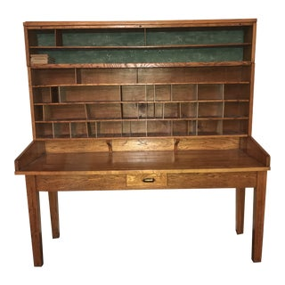 1930s Industrial Lycoming Post Office Writing Desk For Sale