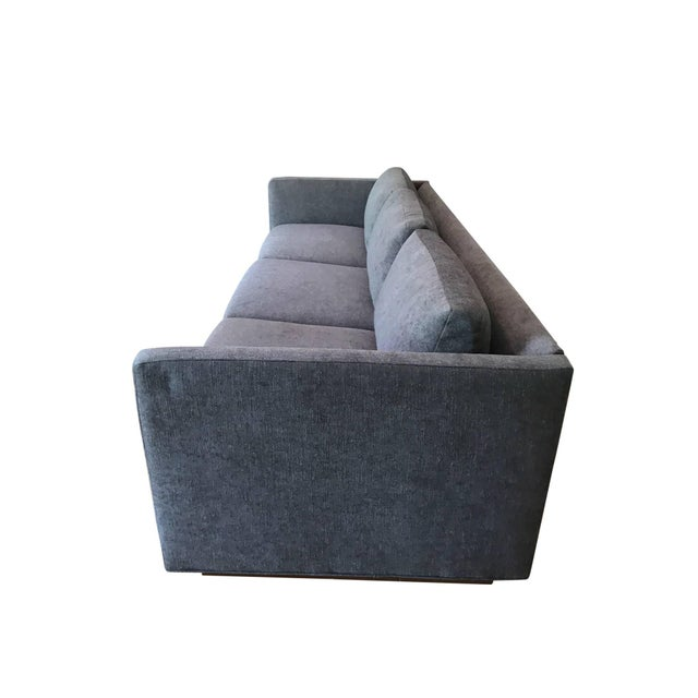 Mid-Century Modern Milo Baughman for Thayer Coggin Tuxedo Sofa For Sale - Image 3 of 6