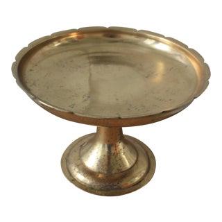 Brass Pedestal Dish For Sale