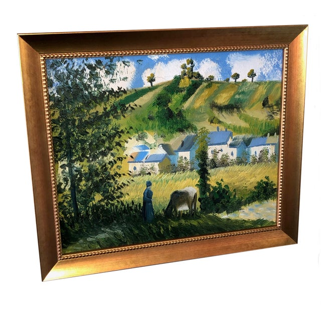 Paint Vintage French Painting Replica of Camille Pissarro For Sale - Image 7 of 7