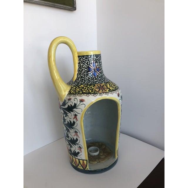 1960s Vintage Boho Glazed Ceramic Candle Holder -- Spain For Sale - Image 5 of 13