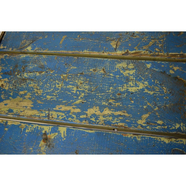 Worn Blue-Painted Coffee Table - Image 6 of 7