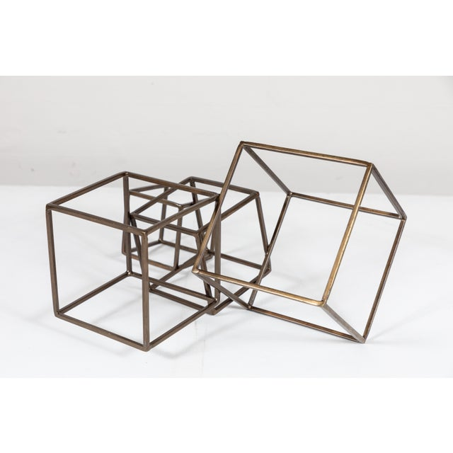 Cubist Brass Sculpture For Sale - Image 4 of 8