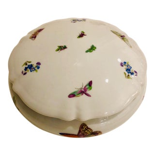 Limoges Butterfly Motif Porcelain Dressing Table Dish For Sale