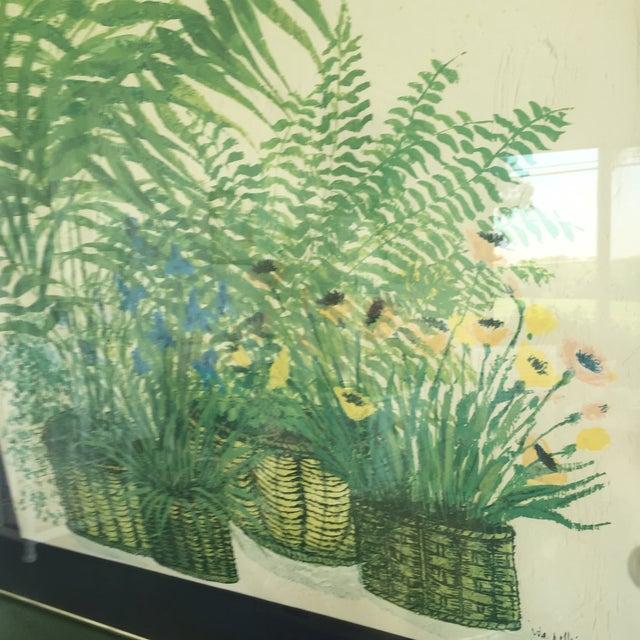1970's Palm Beach Regency Artist Ida Pellei Botanical Gallery Framed Art - Image 8 of 11