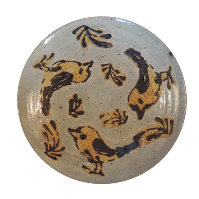 Mid-Century Modern Style Art Pottery Plate - Image 1 of 4