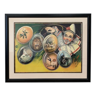 Custom Framed Mid 20th-Century Circus Poster For Sale