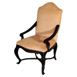 Louis XVI Style Walnut Fauteuil For Sale