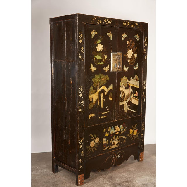 Rare Pair of 18th Century Chinese Cabinets For Sale - Image 9 of 11