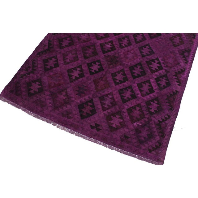 Boho Chic Boho Chic Carlos Hand-Woven Kilim Wool Rug - 5'7 X 7'7 For Sale - Image 3 of 8