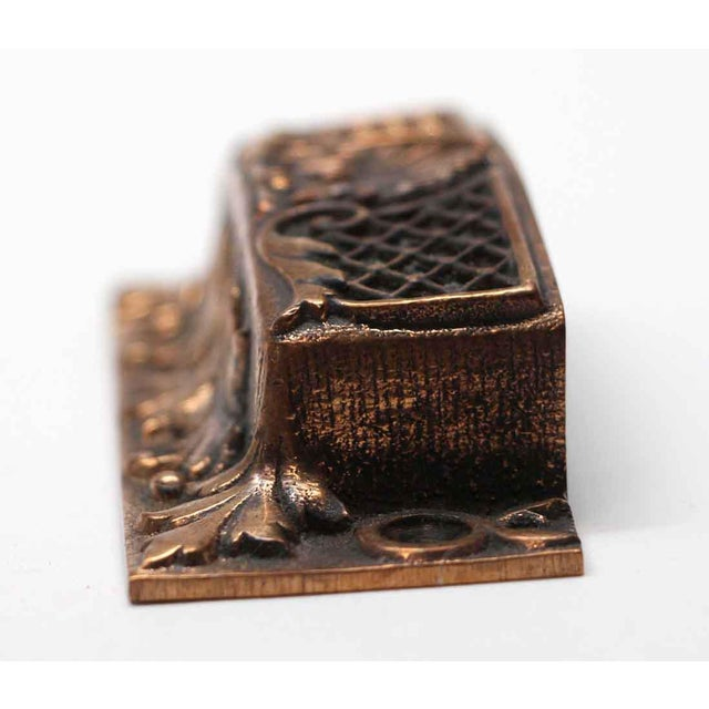 Late 19th Century Antique French Bronze Drawer Bin Pulls - a Pair For Sale - Image 5 of 7