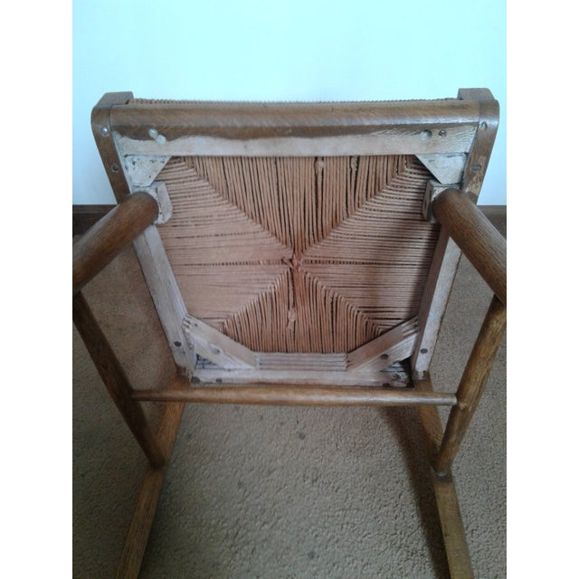 Mid-Century Modern Rush and Hardwood Side Chair For Sale - Image 11 of 12