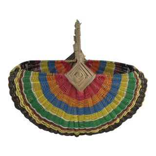 20th Century African Rainbow Basket For Sale