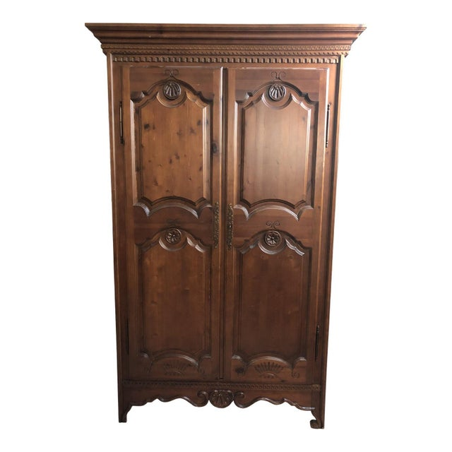 1990s Traditional Spanish Armoire For Sale - Image 13 of 13
