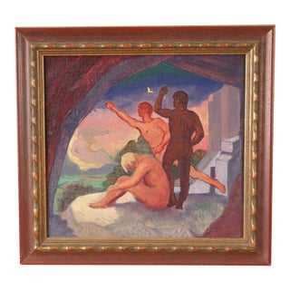1950s Arnold Bray Figural Painting For Sale
