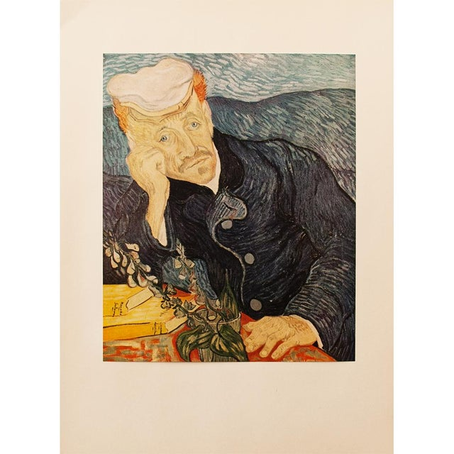 Blue 1950s Van Gogh, First Edition Lithograph After Portrait of Dr. Gachet For Sale - Image 8 of 8