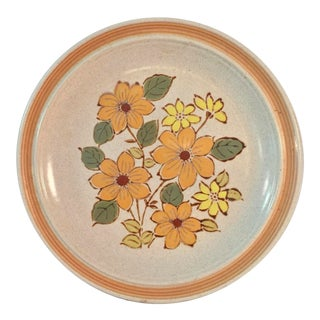 1970s 70's Stoneware Serving Platter For Sale