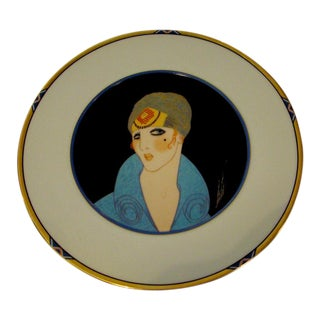 "Vintage Erte ""Yellow Turban"" Plate For Sale"
