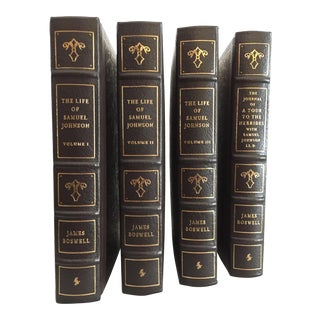The Life of Samuel Johnson Decorative Leather Bound Volumes by James Boswell, Easton Press Collector's Edition - Set of 4 For Sale