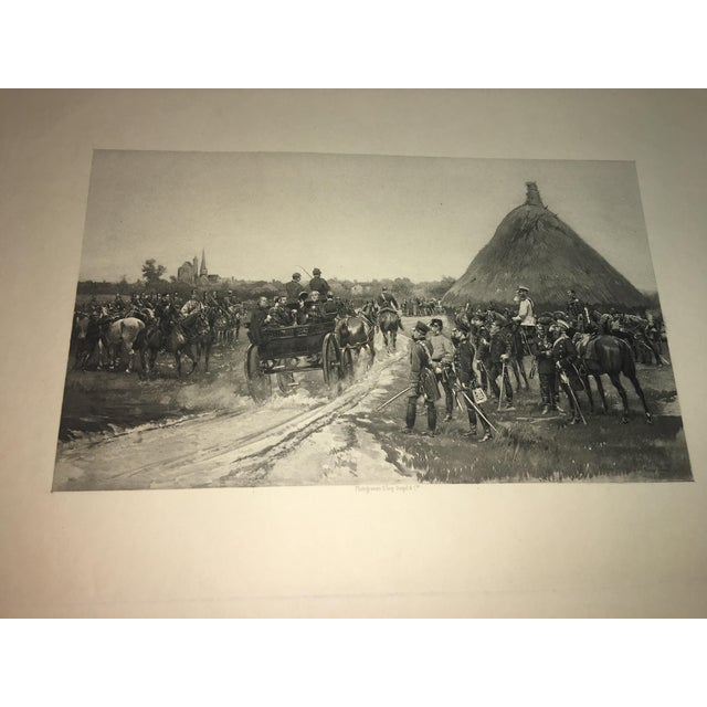 Traditional 1881 Edouard Detaille Military Scene Lithograph For Sale - Image 3 of 7