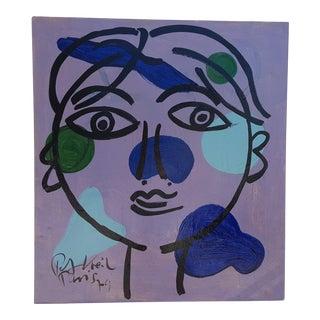 """1979 Paris Studio """" Blue Face """" by Piter Robert Keil For Sale"""