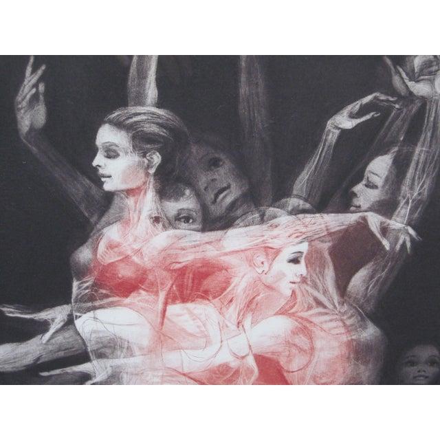 "1970s Vintage G. H. Rothe ""Grand Saute"" Signed Ballet Dancer Mezzotint Print For Sale - Image 4 of 9"