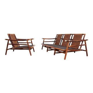 Ficks Reed Far Horizons Patio Set- Sofa and Lounge Chair by John Wisner