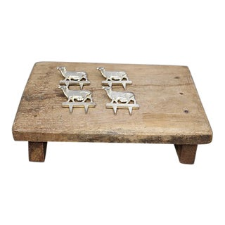 Antique French Rustic Cheese Set For Sale