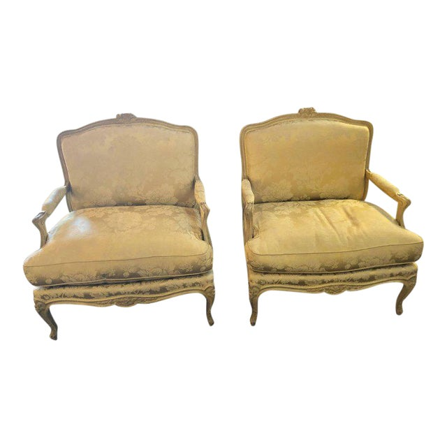 Louis XV Style Lounge Chairs by Maison Jansen - a Pair For Sale - Image 11 of 11