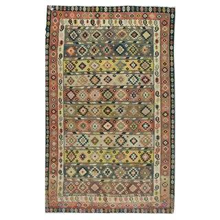"Vintage Persian Kilim - 7'3"" x 12'4"" For Sale"