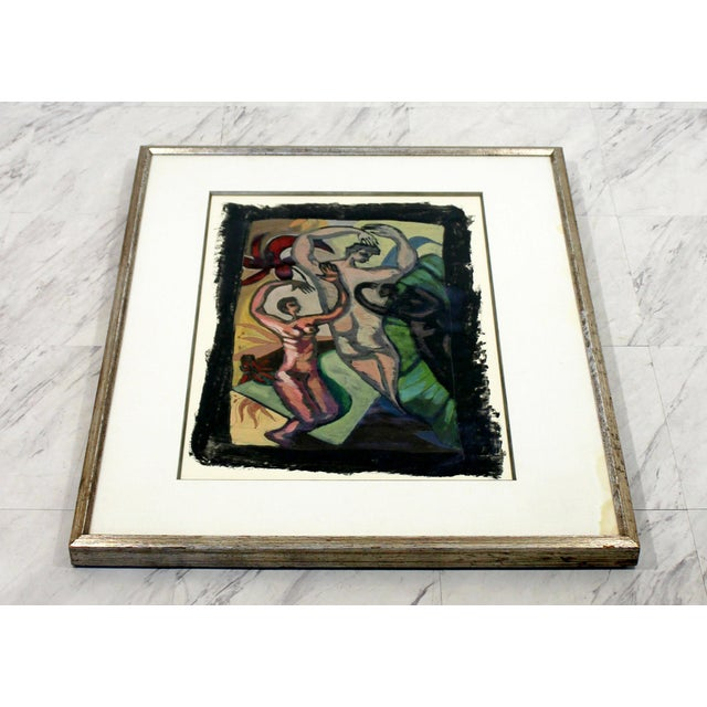 For your consideration is a marvelous, framed gouache painting, signed Booth and dated 1984. In good condition. The...