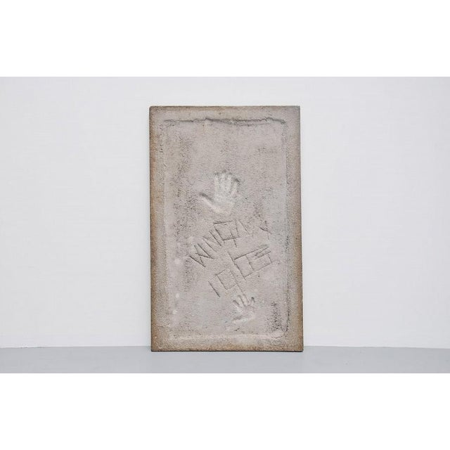 Paul Kingma rectangular coffee table in stone and concrete 1963 - Image 6 of 7