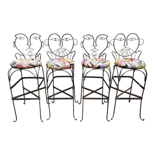 John Risley Style Bar Stools - Set of 4 - Image 1 of 10