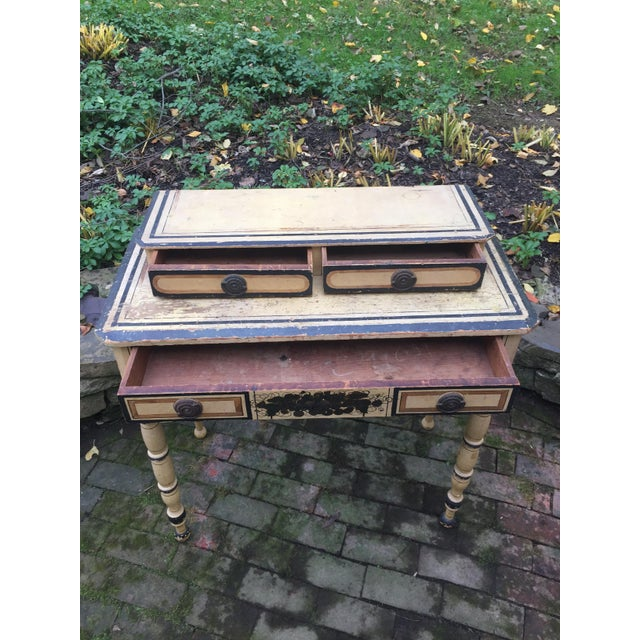 19th Century French Country Paint Decorated Dressing Table For Sale In Philadelphia - Image 6 of 7