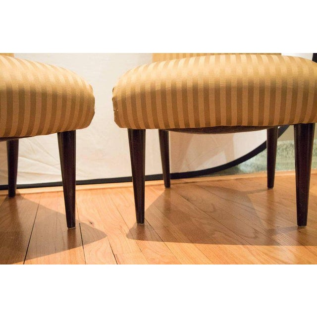 Viennese Biedermeier Style Art Deco Flare Slipper Chairs - a Pair - Image 3 of 10