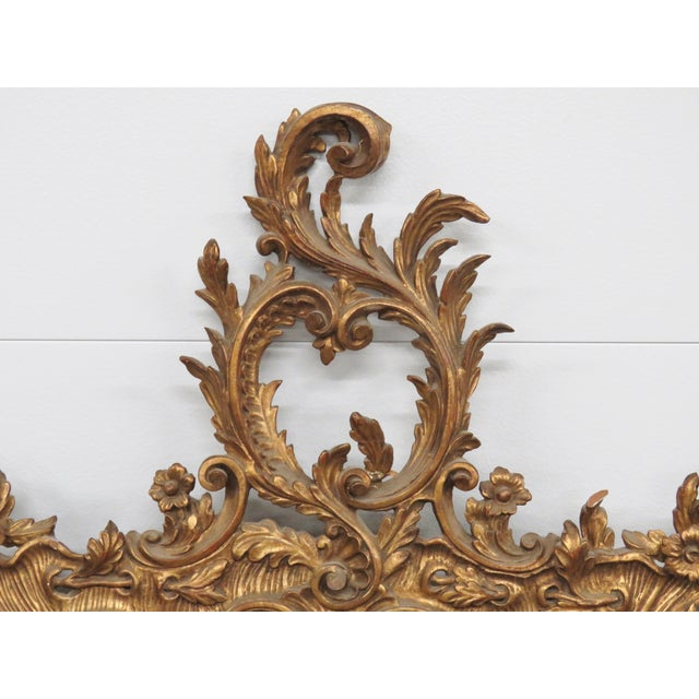 Italian Gilt Carved Wall Mirror - Image 3 of 6