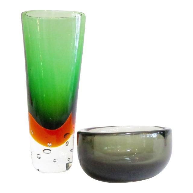 Modern Murano Glass Objects - A Pair - Image 1 of 7