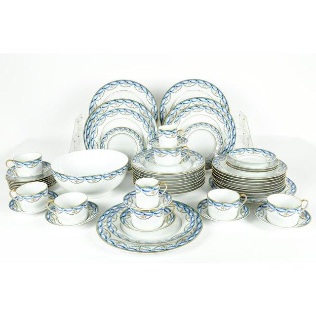 Limoges, France Limoges Made for Tiffany Dinner Set - Set of 42 For Sale - Image 4 of 9