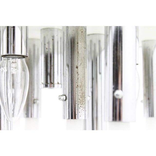 Venini Murano Glass Flush Mount Chandelier, Italy, Circa 1970s For Sale - Image 9 of 13