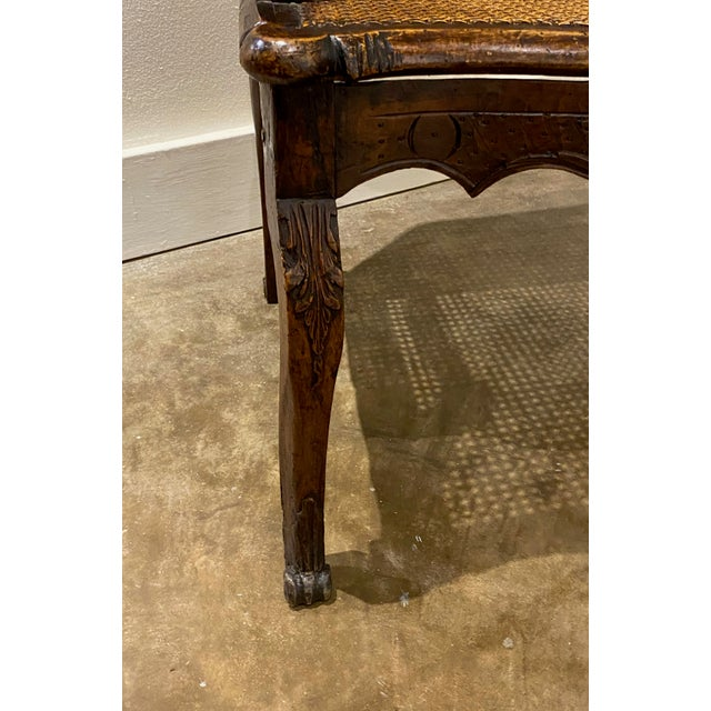 Brown Mid 18th Century French Cane Arm Chair For Sale - Image 8 of 11