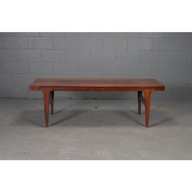 Mid-Century Modern Mid-Century Danish Modern Rosewood Coffee Table For Sale - Image 3 of 10