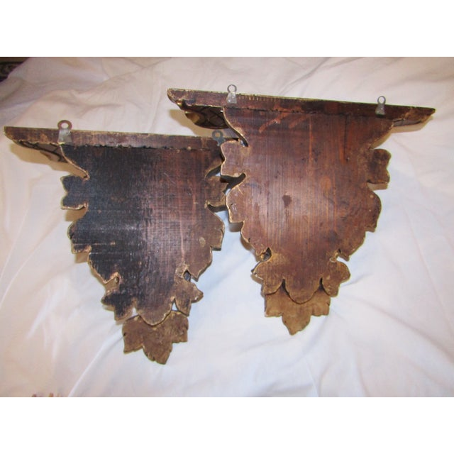 Antique Hand Carved Swedish Wall Shelves - A Pair - Image 6 of 7