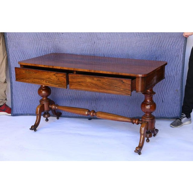 Found in England, this is a beautiful 19th century console table. The two drawers on the front are almost hidden as they...