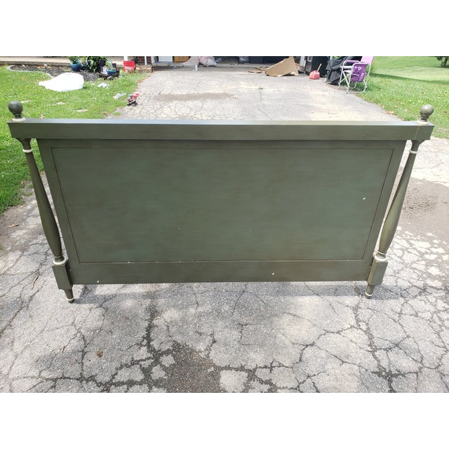 Bunny William's King Size Empire Bed Green/Grey For Sale - Image 6 of 10