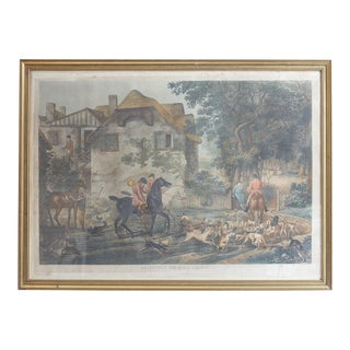 Early 19th Century Antique Philibert-Louis Debucourt, Le Depart Pour La Chasse Print For Sale