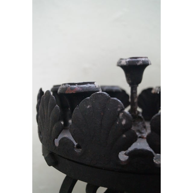 Quality Wrought Iron Torchieres Candle Holders - Image 9 of 10