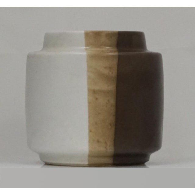 Ceramic McCoy Three Tone Brown Pot For Sale - Image 7 of 7