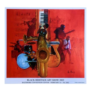 "2002 ""Black Heritage Art Show"" Laverne Ross Poster Print For Sale"